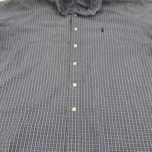 Ralph Lauren plaid blue Blake short sleeve shirt